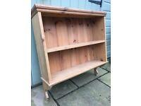 Antique pine book shelf