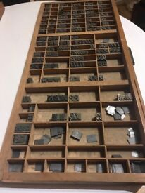 Antique Letter Press And Typeface Complete Metal Set 72pt De Vinnie
