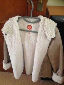 White Stuff New Fur Coat size 10