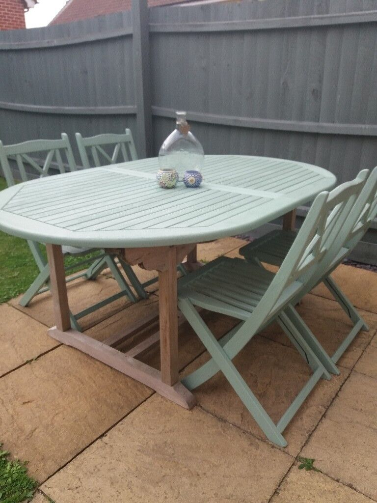 Garden Furniture Gumtree garden furniture, extendable dining table and four folding chairs