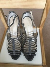2 ladies sparkly sandals for special occasion