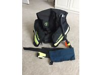 Scuba diving BCD and weight belt