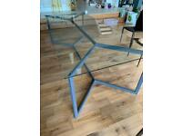 Large Modern Glass Dining Table and 6 Chairs