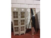 FREE STANDING MIRROR AND LARGE FREE STANDING PICTURE FRAME