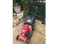 Large Honda engines champion self propelled mower with box