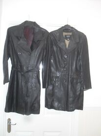 LEATHER COATS X 2 £15 EACH OR £25 FOR THE TWO