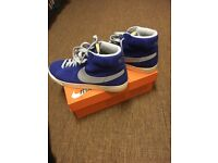 Nike Hi Top Blazers - Racer Blue UK Size 11.
