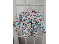 Hatley rain coat, girls, age 5, butterflies