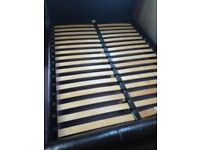 FAUX LEATHER KING SIZE BED FRAME ONLY/WITH LATTS AND FITTINGS/SEE PICTURES