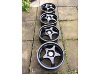 """£140 ONO-Genuine TSW 15"""" Alloy Wheels 4x100"""