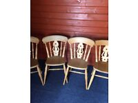 4 ex Anni Mo pine kitchen chairs in good condition, no longer needed