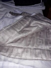 Biscuit Brown fully lined pencil pleat curtains