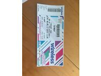 Wireless Saturday ticket £100