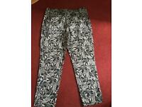 Floral ankle grazers, Never Worn, size 16