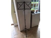 Music Stand, Traditional solid black metal