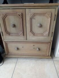 Solid pine tv unit, ideal painting project