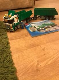 Lego tipper truck with trailer
