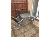 Garden Table and 4 Chairs - FREE - structurally fine just need some TLC