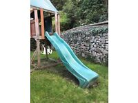 Slide for climbing frame
