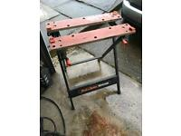 Black and decker work mate tool clamp vice garage find