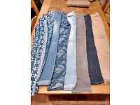 7 pairs of girls jeans age 11-13
