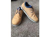 Clark's Jnr Boys Oscar Maze Tan Leather Shoes