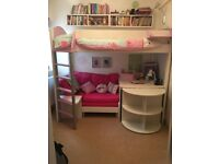 STOMPA CASA HIGH SLEEPER CABIN BED WITH DESK AND FUTON