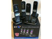 BT8500 Quad Digital Cordless Phones with Answer Machineand AdvancedCall Blocker