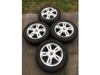 "4x 15"" Mini R93 Star Alloy Wheels with Goodyear Ultragrip 7 Winter Tyres"