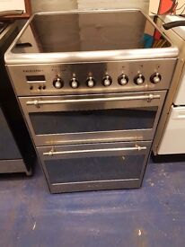 Stainless steel 60cm ceramic cooker is in perfect working order and in good condition
