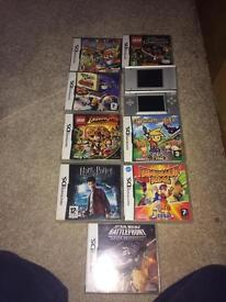 Silver Nintendo ds lite and games