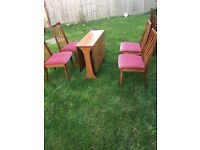 Vintage G Plan Table with chairs