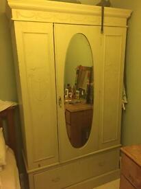 Large shabby chic wardrobe - need gone by Monday 22nd January