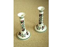 Pair of lovely PORTMEIRION candlesticks in perfect condition, genuine Portmerrion vintage pieces.