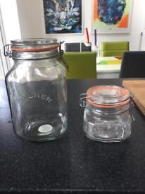 Kilner square clip top jars