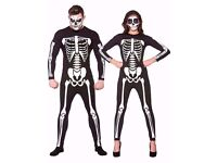 SKELETON / DAY OF THE DEAD FANCY DRESS OUTFIT SIZE L PARTY STAG DO
