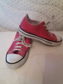 Size 10 girls or boys Converse - pre worn
