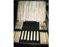 Dessert Knives and Forks, stainless steel by Dawson (B'ham) Ltd Sheffield Manufacture