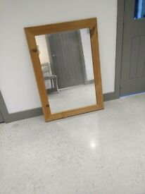 Large Waxed Pine Mirror