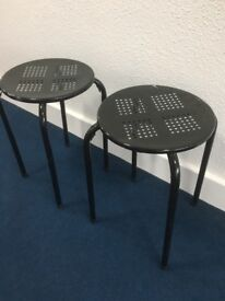 PAIR STEEL STOOLS only £9 the PAIR