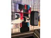 Nintendo switch with acessories 1 week old