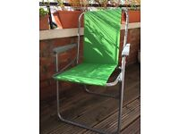 2 folding garden chairs, hardly used.