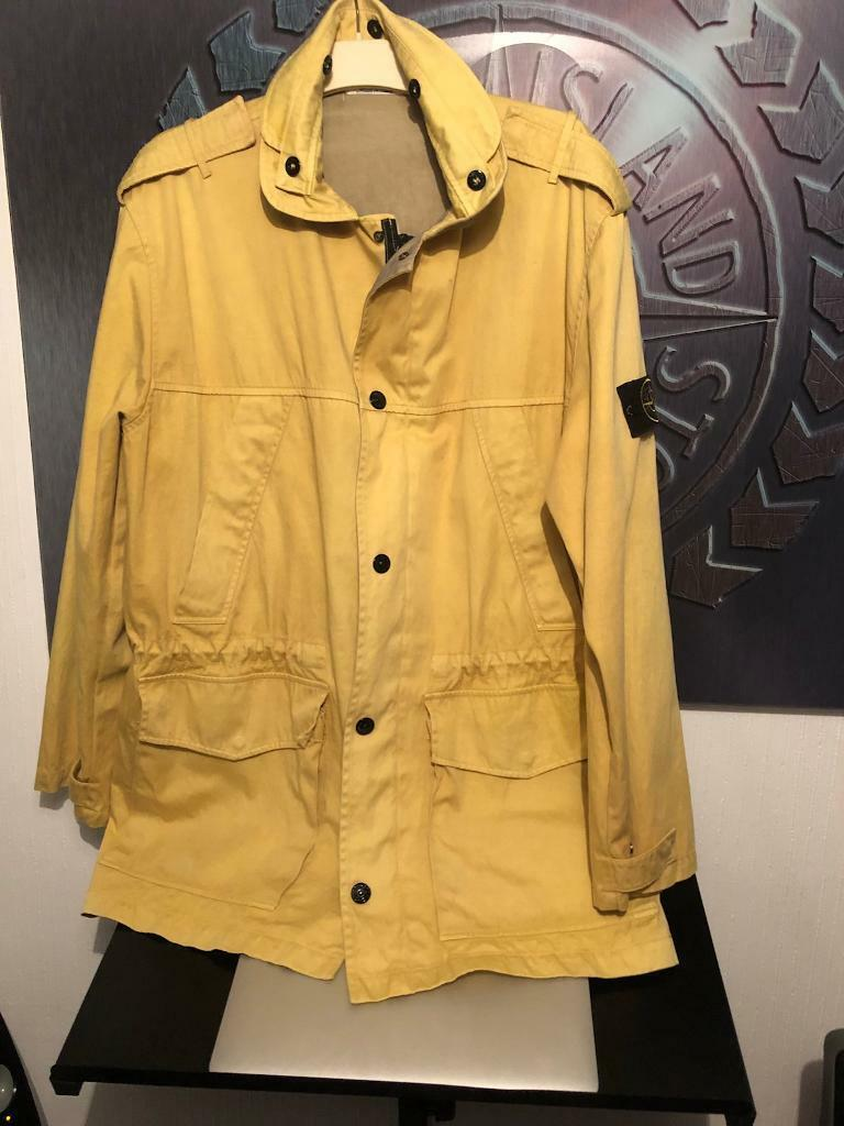 Old stone island jacket size XXl but ide say xxxl