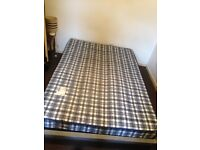 Double bed and mattres no headboard 200cm x 56cm £30.00