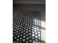 Ikea black and white spot rug 133x195cm
