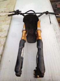 Pit bike forks and bits