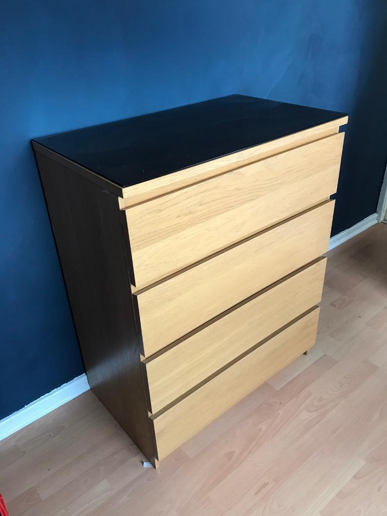 Ikea malm chest of draws