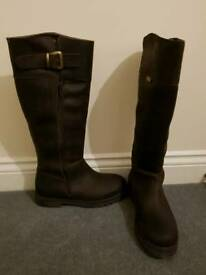 Leather Riding Boots Size 6 uk