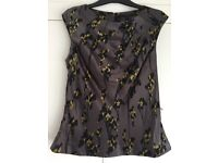 Ladies Coast Silk Top size 14