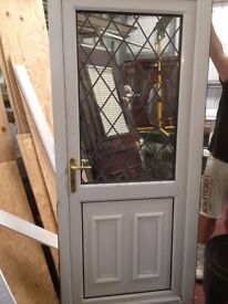 Used UPVC White Door 915mm wide by 2060mm high still in good condition